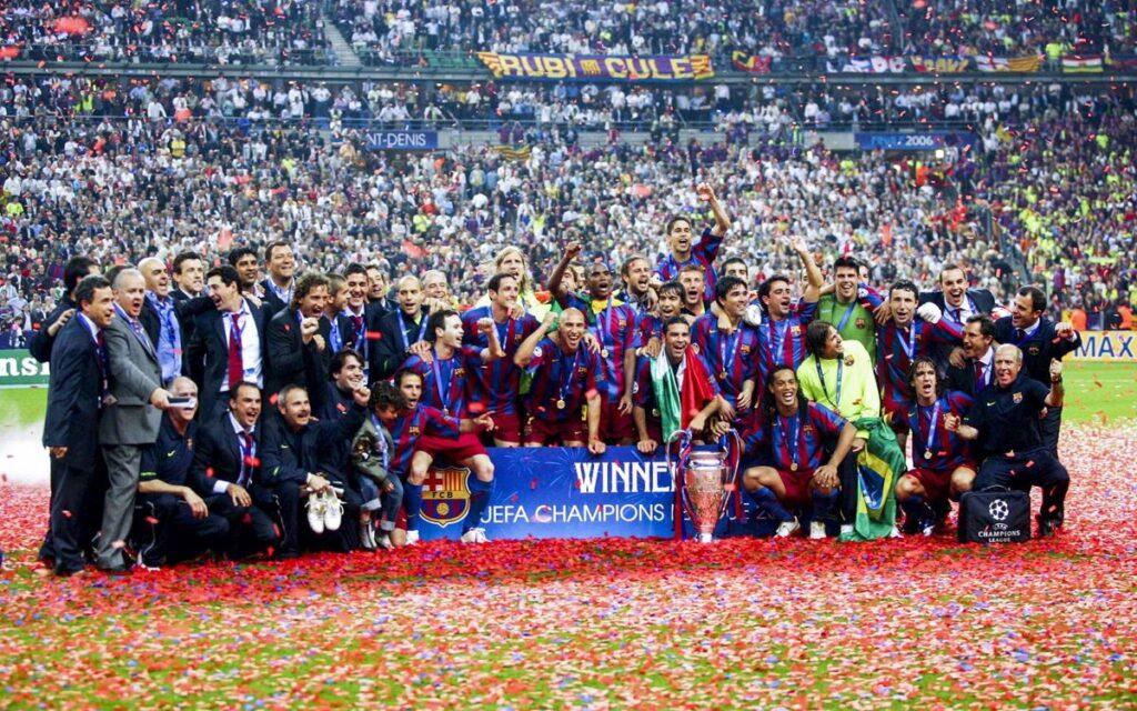 «Барселона» празднует вторую победу в Лиге чемпионов в 2006